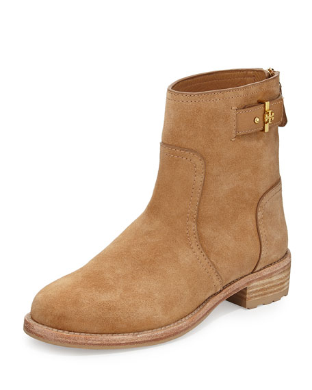 af0eb8c14043b5 Tory Burch Selena Suede Ankle Boot