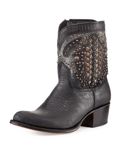 Deborah Deco Short Boot, Black