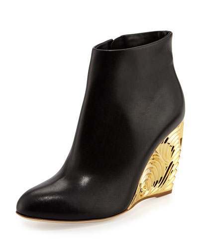 Decorative-Wedge Ankle Boot