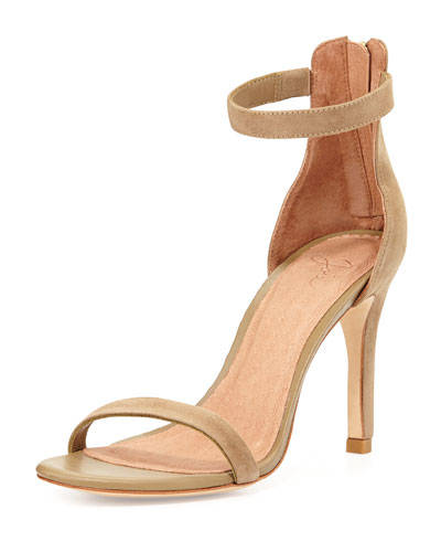 Abbott Suede Naked Sandal, Cement
