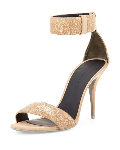 Antonia Stingray Ankle-Wrap Sandal