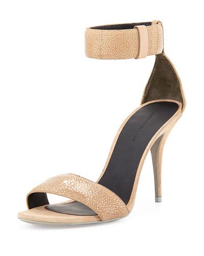 Antonia Stingray Ankle-Wrap Sandal
