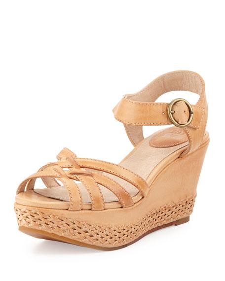 6e745742b1f Frye Carlie 2 Piece Woven Leather Wedge Sandal