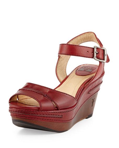 127c483811c Frye Carlie Seam Leather Wedge Sandal