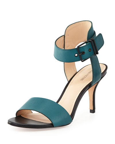 Single Band Two-Tone Sandal, Jade