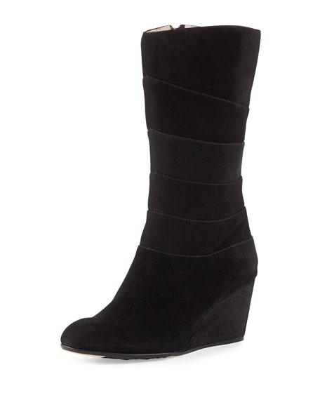 0f43358709f7 Taryn Rose Kelia Suede Wedge Boot