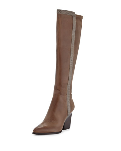 Vannah Pointed Stretch-Back Knee Boot