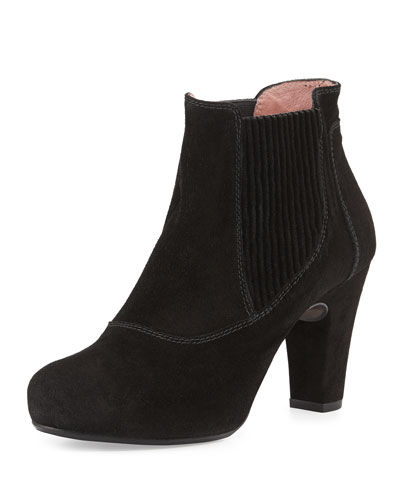 Gizmo Suede Ankle Boot, Black