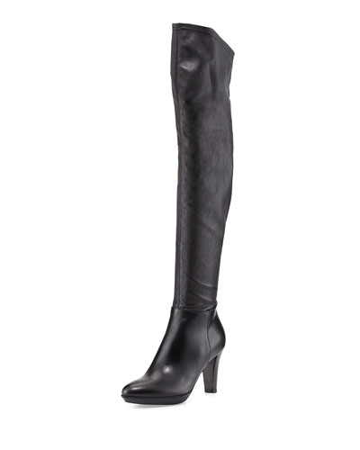 Rita Stretch Over-the-Knee Boot, Black