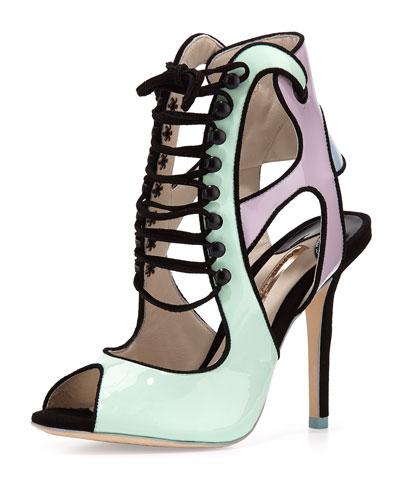 Mel B Patent Lace-Up Sandal, Pastel