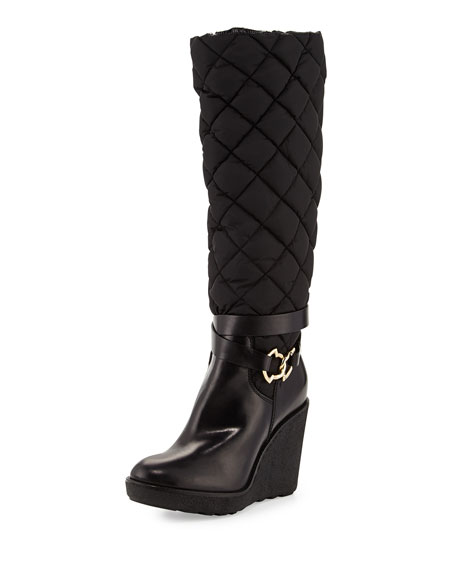 Moncler Quilted Wedge Boots finishline for sale clearance classic really for sale zbmv5xe9