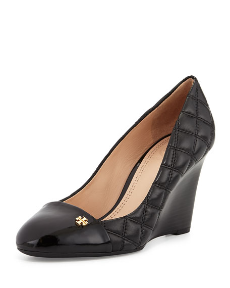 5aaeadafa13 Tory Burch Claremont Quilted Wedge Pump