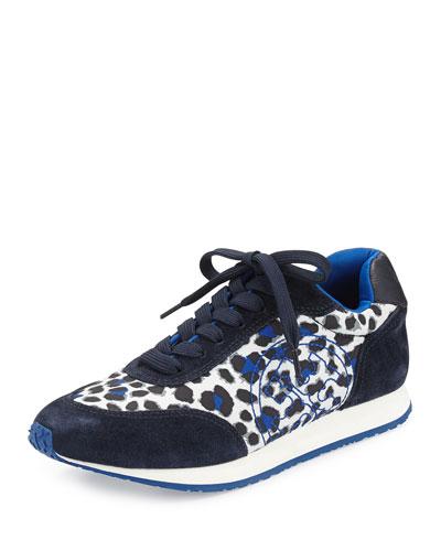 Delancey Leopard-Print Sneaker, Snow Leopard