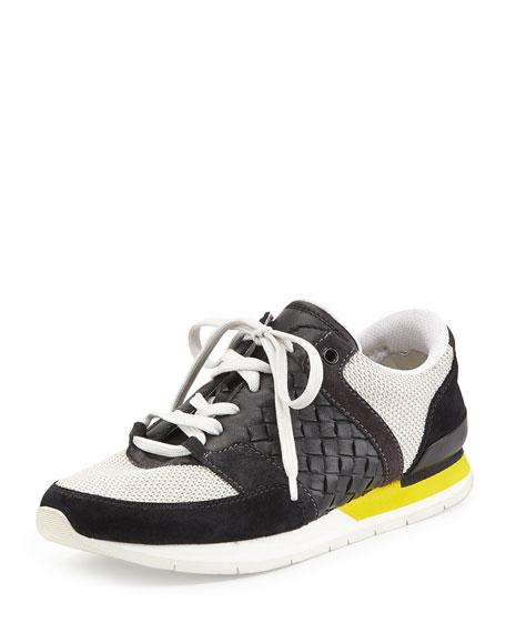 Bottega Veneta Woven Lace-Up Sneaker 5pageV