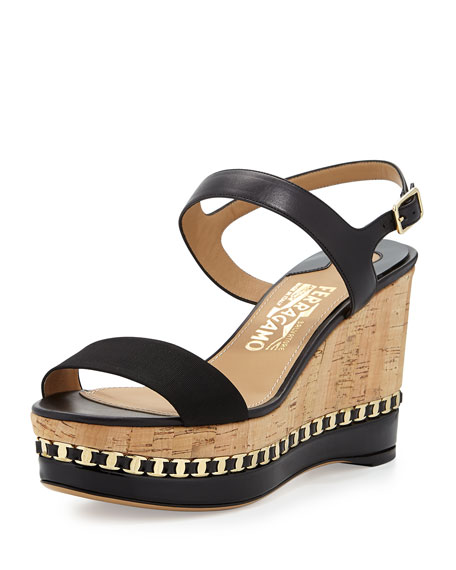 Salvatore Ferragamo Mollie Platform Wedges cheap with credit card free shipping sneakernews clearance for nice cheap amazing price l5DxODuVrp
