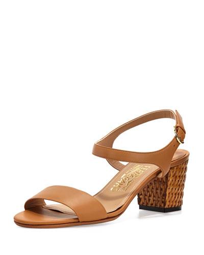 Madison Leather City Sandal, Sienne