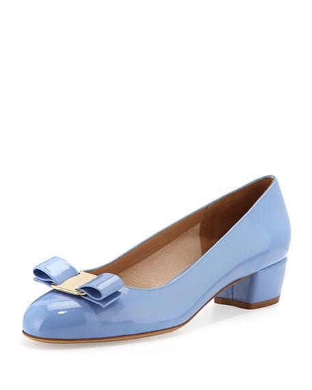 Vara bow pumps - Blue Salvatore Ferragamo xqysC