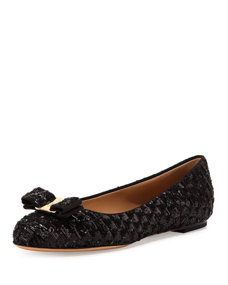 Salvatore Ferragamo Sequin Bow Flats sale explore cheap tumblr h4DLKuAp