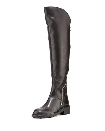 Seven Zipper-Detail Boot