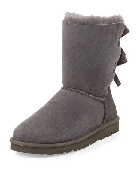 061da2173d7 UGG Bailey Bow-Back Short Boot, Gray