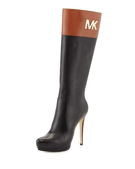 2d4fee49be2d MICHAEL Michael Kors <MKFMGLOBALCOPY-mmk> Hayley Two-Tone Leather Boot