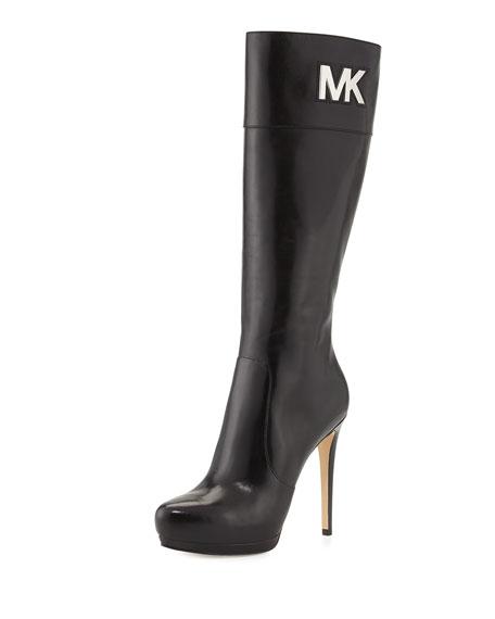 7ef6fc62f8e9 MICHAEL Michael Kors <MKFMGLOBALCOPY-mmk> Hayley Leather Boot