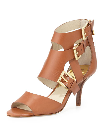 Lucinda Open-Toe Vachetta Sandal, Luggage