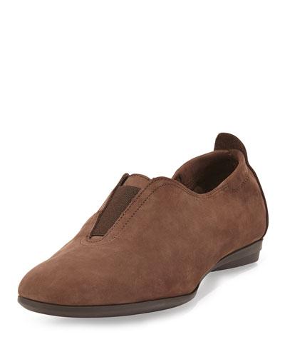 Ally Nubuck Slip-On Sneaker, Taupe