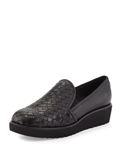 Allix Woven Slip-On Loafer, Black
