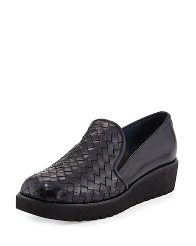 Allix Woven Slip-On Loafer, Navy