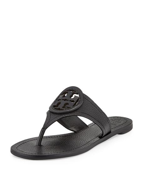 Tory Burch Louisa Logo Flat Thong Sandal