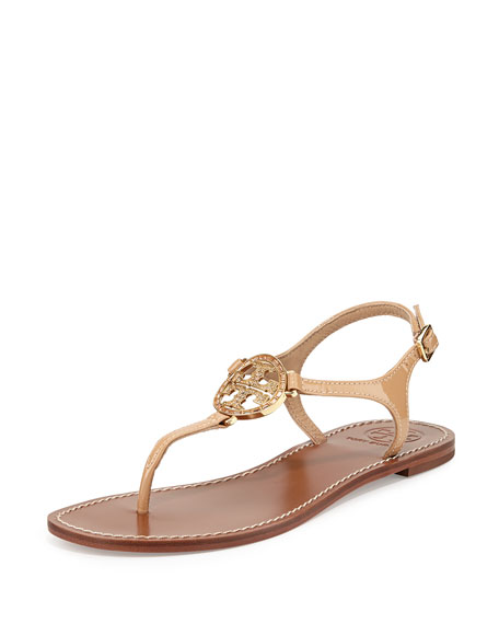 2aa1d71530e1a6 Tory Burch Violet Logo Flat Thong Sandal