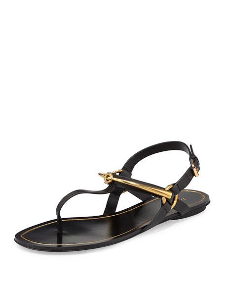 050757f91 Gucci Tess Horsebit Thong Sandal