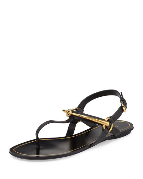 a781186946a Gucci Tess Horsebit Thong Sandal