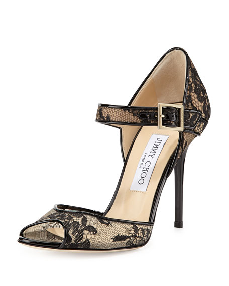 Jimmy Choo Peep-Toe Buckle-Accented Pumps cheap cheap online drbrDVKrW
