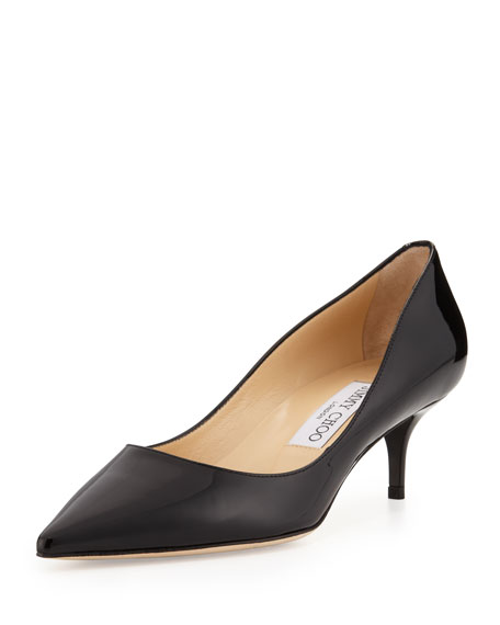 98eee493b38 Jimmy Choo Aza Low-Heel Patent Pump