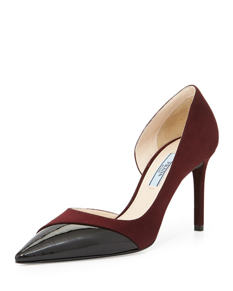 extremely Prada Pointed-Toe D'Orsay Pumps wide range of sale online FaDCZWg