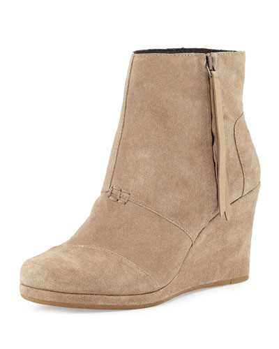 High-Wedge Desert Boot, Taupe