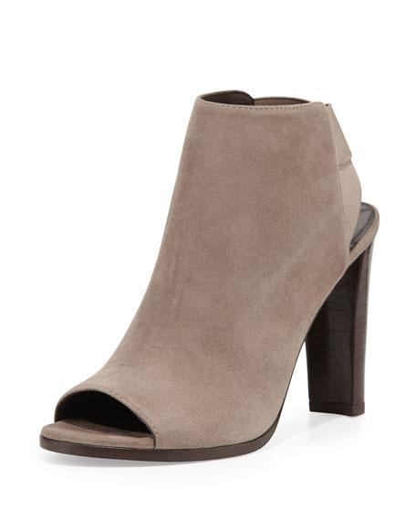 Stuart Weitzman Suede Peep-Toe Boots Manchester cheap price UWNxhw5E