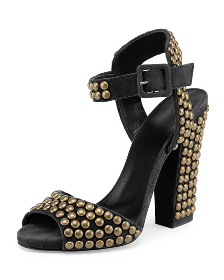 Giuseppe Zanotti Suede Studded Sandals free shipping online wide range of sale online buy cheap lowest price choice cheap price cheap wiki 0tz170BL7x