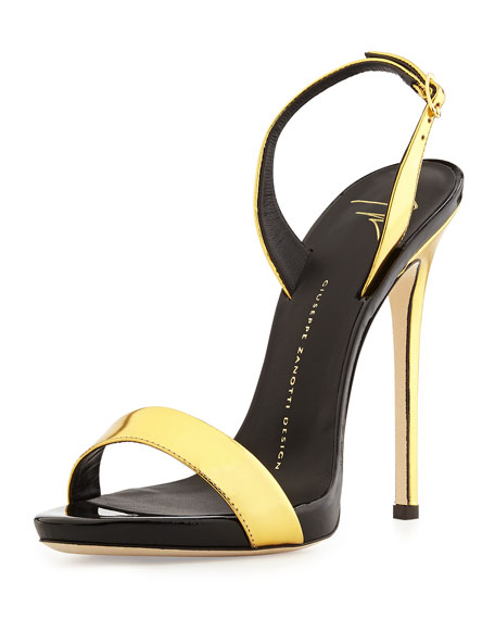 Giuseppe Zanotti Metallic Slingback Platforms cheap sale best wholesale fashionable 100% original for sale fashion Style cheap price buy cheap low price sjavl