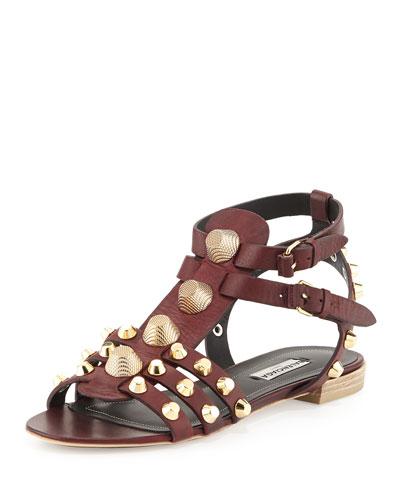 Studded Leather Buckle Sandal