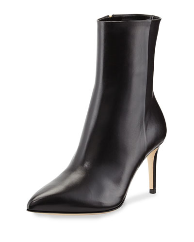Brooke Leather Ankle Boot, Black