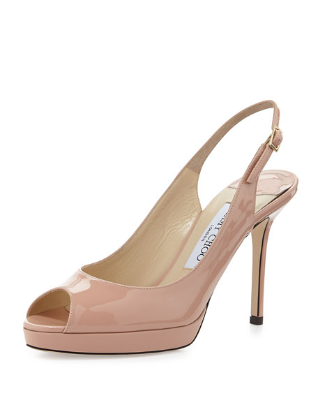Jimmy Choo Patent Leather Slingback Pumps low price fee shipping cheap online cheap hot sale cheap low price fee shipping 93mOnVD