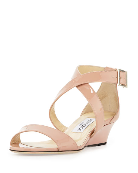 7c82f796859 Jimmy Choo Chiara Demi-Wedge Crisscross Sandal