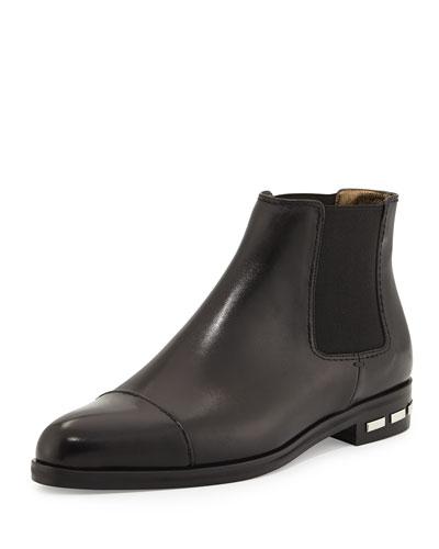 Chelsea Leather Bootie, Black