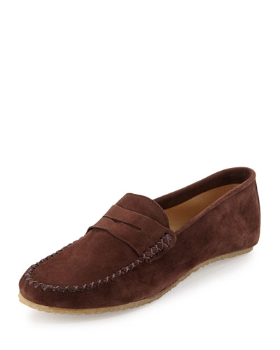 Alex Suede Penny Loafer