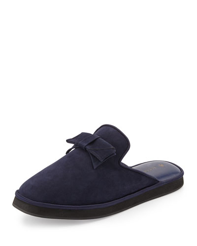 Daria Nubuck Bow Slipper, Navy
