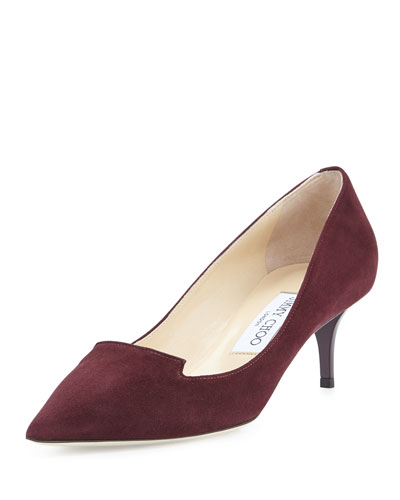 Allure Pointed Suede Loafer Pump, Mirto