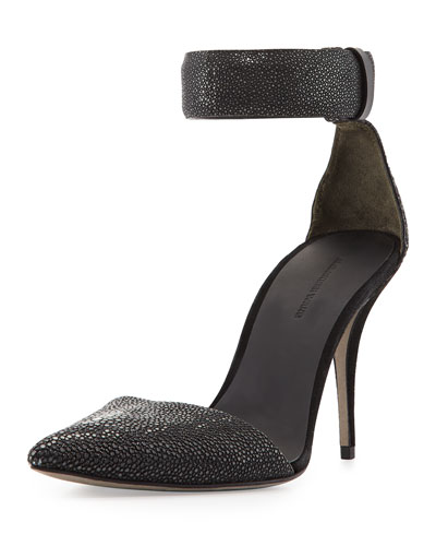 Lovisa Stingray Ankle-Wrap Pump, Black
